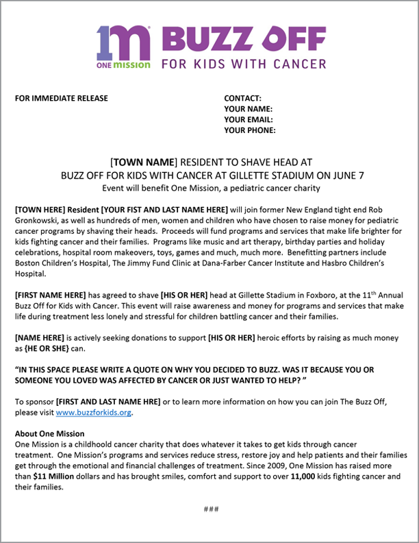 Fundraising Event Program Template from buzzforkids.org